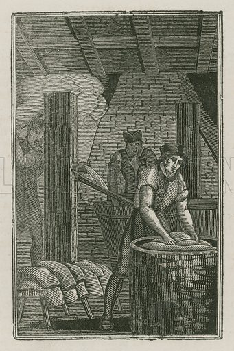 The Dyer. Illustration for The Book of English Trades and Library of the Useful Arts (new edn, J Souter, 1818).