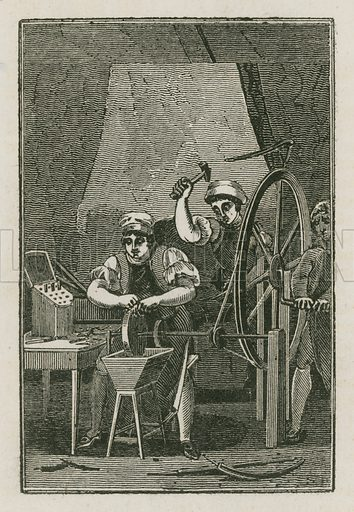 The Cuttler. Illustration for The Book of English Trades and Library of the Useful Arts (new edn, J Souter, 1818).