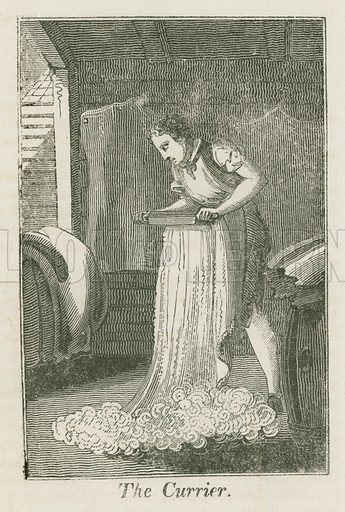 The Currier. Illustration for The Book of English Trades and Library of the Useful Arts (new edn, J Souter, 1818).