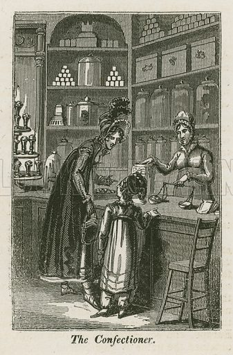 The Confectioner. Illustration for The Book of English Trades and Library of the Useful Arts (new edn, J Souter, 1818).