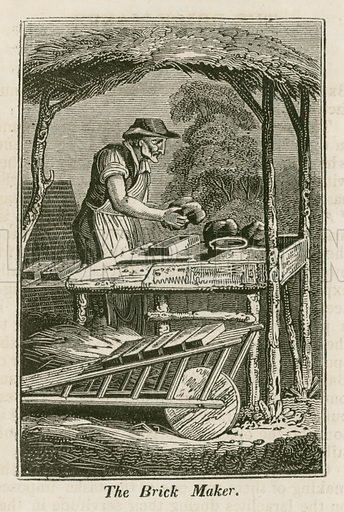 The Brick Maker. Illustration for The Book of English Trades and Library of the Useful Arts (new edn, J Souter, 1818).
