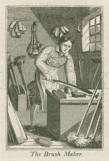 The Brush Maker. Illustration for The Book of English Trades and Library of the Useful Arts (new edn, J Souter, 1818).