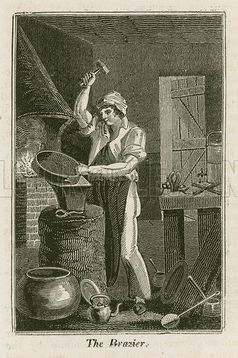 The Brazier. Illustration for The Book of English Trades and Library of the Useful Arts (new edn, J Souter, 1818).