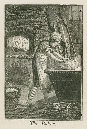 The Baker. Illustration for The Book of English Trades and Library of the Useful Arts (new edn, J Souter, 1818).