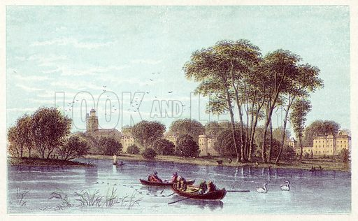 Twickenham. Illustration for Evenings with the Poets and Sketches of their Favourite Scenes (T Nelson, 1866).