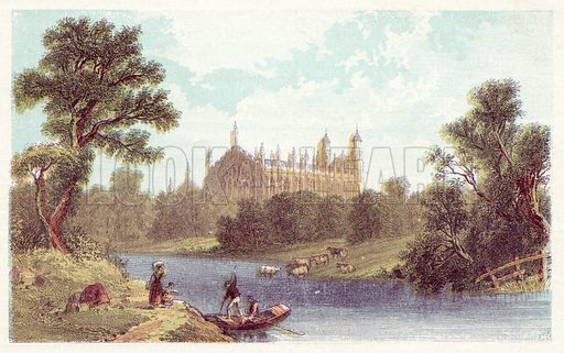 Eton College. Illustration for Evenings with the Poets and Sketches of their Favourite Scenes (T Nelson, 1866).