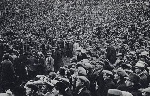 The Masses as Spectators. Illustration for Fair Play, The Games of Merrie England by Rudolf Kircher (W Collins, 1928).