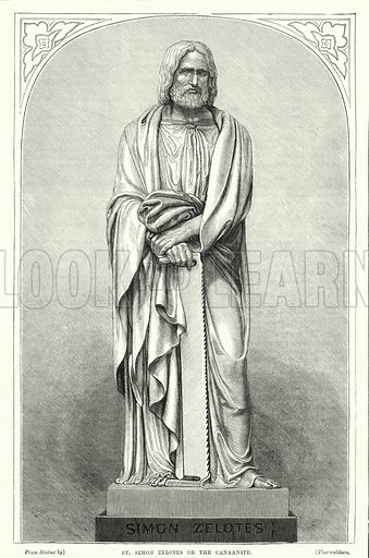 St Simon Zelotes or the Canaanite. Illustration for The Family Friend (1877).