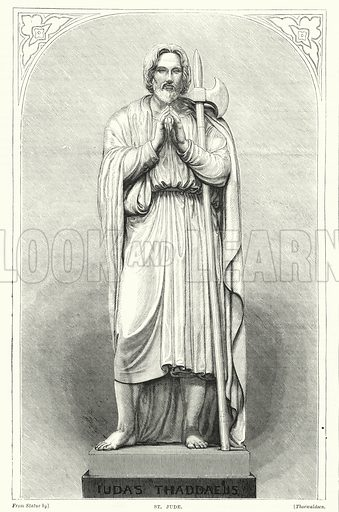 St Jude. Illustration for The Family Friend (1877).