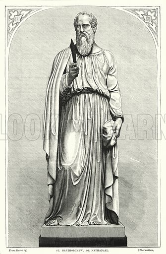 St Bartholomew, or Nathanael. Illustration for The Family Friend (1877).