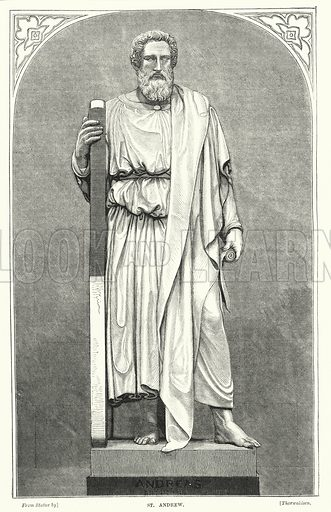 St Andrew. Illustration for The Family Friend (1877).