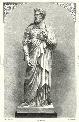 St Peter. Illustration for The Family Friend (1877).