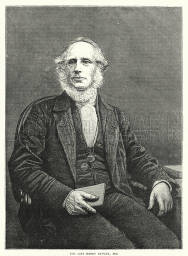 The late Henry Bewley, Esq. Illustration for The Family Friend (1877).