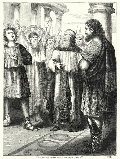 """""""See ye him whom the Lord hath chosen!"""" Illustration for The Family Friend (1866)."""