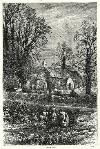 Bonchurch. Illustration for The Family Friend (1887).