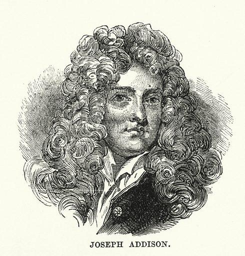 Joseph Addison. Illustration for The Family Friend (1887).