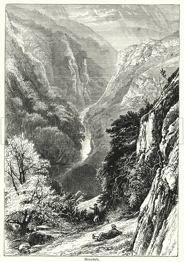 Dovedale. Illustration for The Family Friend (1888).