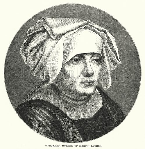 Margaret, mother of Martin Luther. Illustration for The Family Friend (1881).