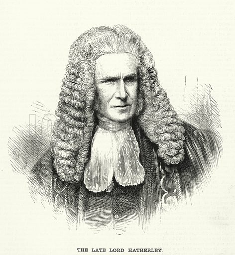The late Lord Hatherley. Illustration for The Family Friend (1881).