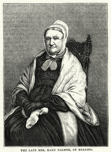 The late Mrs Mary Palmer, of Reading. Illustration for The Family Friend (1881).