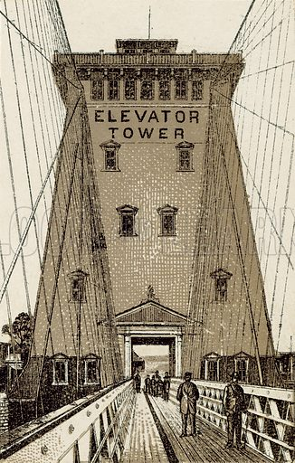 Elevator Tower. Illustration from an unidentified set of views from around the world, c 1885.
