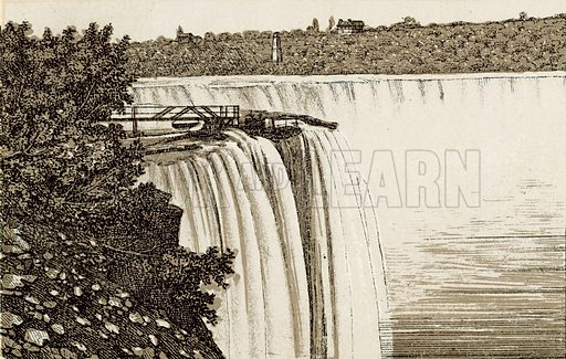 Horse Shoe Fall. Illustration from an unidentified set of views from around the world, c 1885.