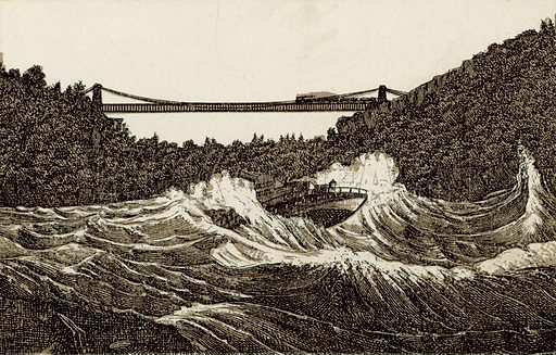 Maid of the Mist in Whirlpool Rapids. Illustration from an unidentified set of views from around the world, c 1885.