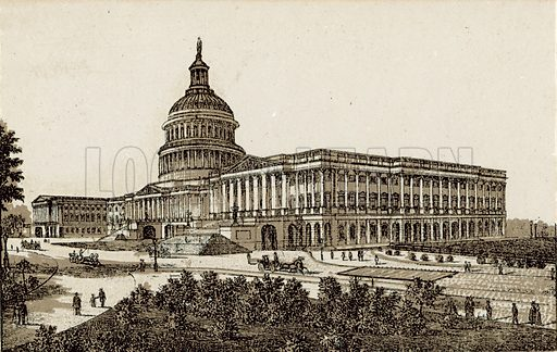 The Capitol East Front. Illustration from an unidentified set of views from around the world, c 1885.