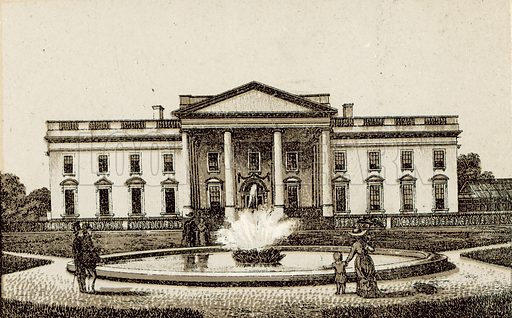 President's House. Illustration from an unidentified set of views from around the world, c 1885.