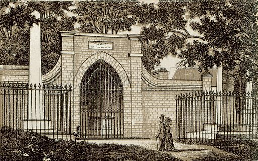 Tomb of Washington, Mt Vernon. Illustration from an unidentified set of views from around the world, c 1885.