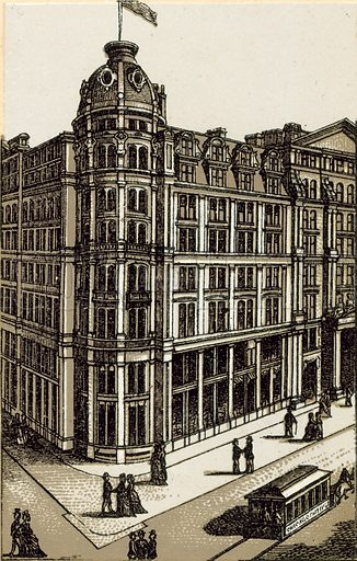 Palmer House. Illustration from an unidentified set of views from around the world, c 1885.