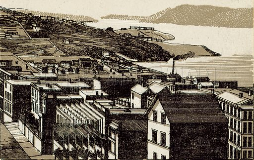 Golden Gate. Illustration from an unidentified set of views from around the world, c 1885.