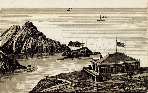 Cliff House. Illustration from an unidentified set of views from around the world, c 1885.