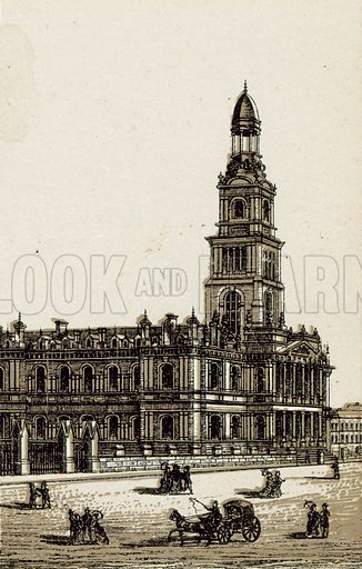 The New Town Hall. Illustration from an unidentified set of views from around the world, c 1885.