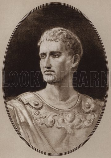 Augustus. Illustration for Living Biographies of Famous Rulers by Henry Thomas and Dana Lee Thomas (Blue Ribbon, c 1940).