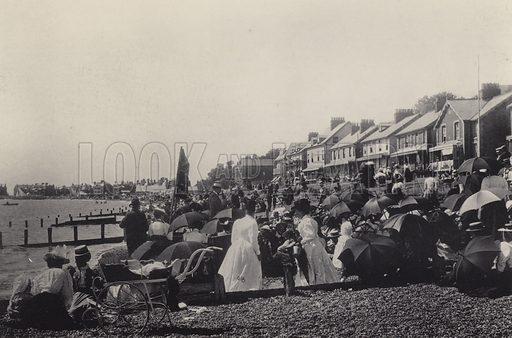 CSS Mission. Illustration for a booklet of views of Felixstowe (J E Law, c 1895). Gravure-printed.