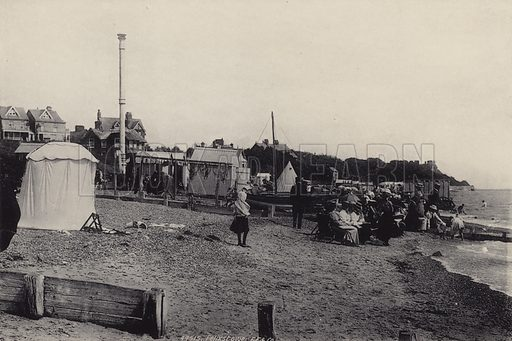 Cobbold's Point. Illustration for a booklet of views of Felixstowe (J E Law, c 1895). Gravure-printed.