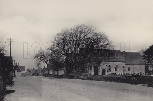 Trimley Churches. Illustration for a booklet of views of Felixstowe (J E Law, c 1895). Gravure-printed.