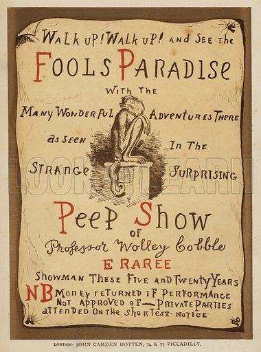Title-page illustration for Fools Paradise (John Camden Hotten, 1871).