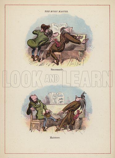 The Music Master.  Illustration for Fools Paradise (John Camden Hotten, 1871).