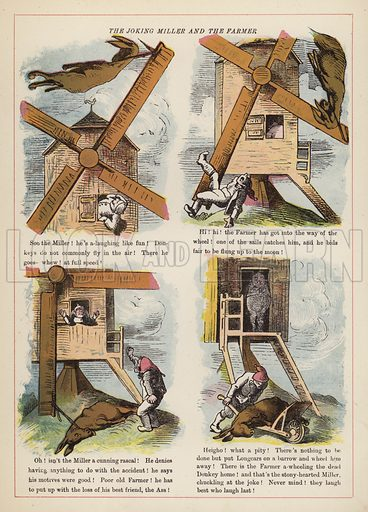 The Joking Miller and the Farmer.  Illustration for Fools Paradise (John Camden Hotten, 1871).