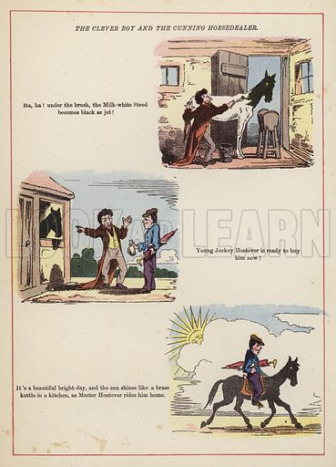 The clever boy and the cunning horsedealer.  Illustration for Fools Paradise (John Camden Hotten, 1871).