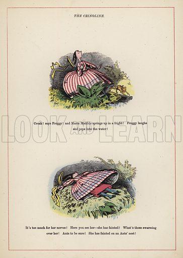 The Crinoline.  Illustration for Fools Paradise (John Camden Hotten, 1871).