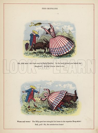 The Crinoline.  Illustration for Fools Paradise (John Camden Hotten, 1871).