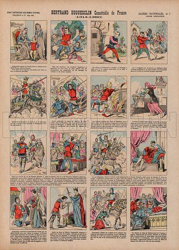 Bertrand Duguesclin, Connetable de France, 1314-1380. Illustration for Gloires Nationales Qui Vive? France! (Epinal Pellerin, c 1900).