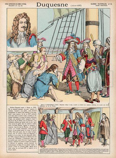 Duquesne, 1610-1688. Illustration for Gloires Nationales Qui Vive? France! (Epinal Pellerin, c 1900).