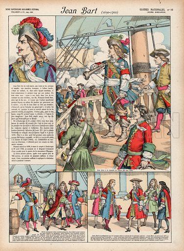 Jean Bart, 1650-1702. Illustration for Gloires Nationales Qui Vive? France! (Epinal Pellerin, c 1900).