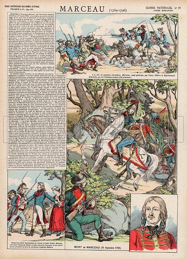 Marceau, 1769-1796. Illustration for Gloires Nationales Qui Vive? France! (Epinal Pellerin, c 1900).