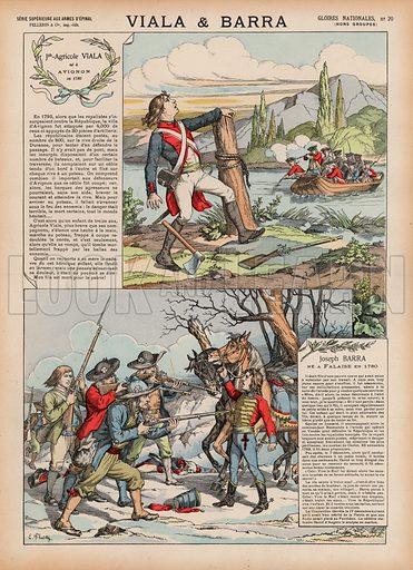 Viala et Barra. Illustration for Gloires Nationales Qui Vive? France! (Epinal Pellerin, c 1900).