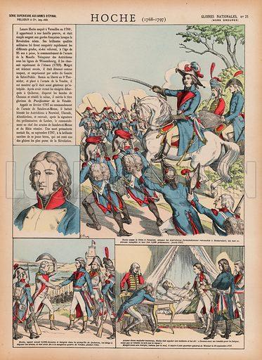 Hoche, 1768-1797. Illustration for Gloires Nationales Qui Vive? France! (Epinal Pellerin, c 1900).